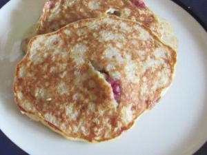 Banana raspberry oat pancakes babyjlittlea toddler food